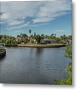 Port Charlotte Adhenry Waterway From Midway Metal Print