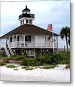 Port Charlotte Harbor Lighthouse Metal Print