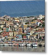 Port City Parga Greece - Dwp1163344 Metal Print