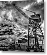 Port Crane Metal Print