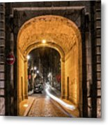 Port Dinan Archway At Night Metal Print