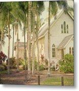 Port Douglas Beach Chapel Metal Print