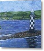 Port Glasgow, Perch Lighthouse Metal Print