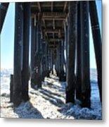 Port Hueneme Pier - Waves Metal Print