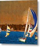 Port Huron Sailboat Race Metal Print