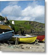 Port Isaac Boats Metal Print