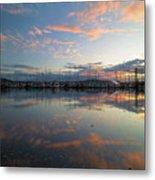 Port Of Anacortes Marina At Sunset Metal Print