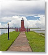 Port Of Kissimmee Lighthouse On Lake Tohopekaliga In Central Florida Metal Print