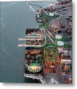 Port Of Oakland Aerial Photo Metal Print