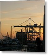 Port Of Oakland Sunset Metal Print