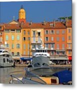 Port Of Saint-tropez In France Metal Print by Giancarlo Liguori