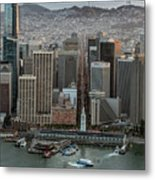 Port Of San Francisco And Downtown Financial District Metal Print