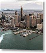 Port Of San Francisco And Downtown Financial Districtport Of San Francisco And Downtown Financial Di Metal Print