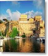 Port Of Sorrento, Southern Italy Metal Print