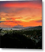 Port Of Spain Sunset Metal Print