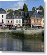 Port Of St Goustan In Brittany  France Metal Print