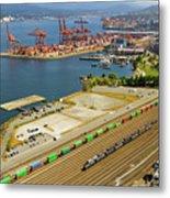 Port Of Vancouver Bc Metal Print
