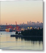 Port Of Vancouver By Stanley Park Metal Print