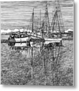 Port Orchard Marina Metal Print