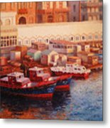 Port Said At Dawn Metal Print