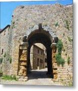 Porta All' Arco Volterra Metal Print
