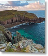 Porth Loe Cornwall At Sunrise Metal Print