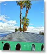 Portholes Palm Springs Metal Print