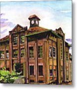 Portland Gas And Coke Building Without Border Metal Print