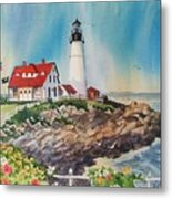 Portland Head Light Metal Print