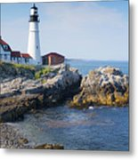 Portland Head Lighthouse Portland Me Metal Print