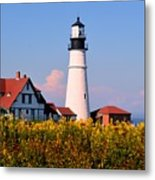 Portland Light Metal Print