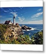 #portland #lighthouse #maine Metal Print