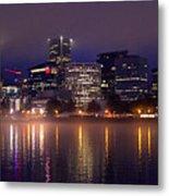 Portland Night Skyline Metal Print