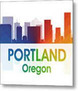 Portland Or Metal Print