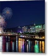 Portland Rose Festival 2017 Fireworks Metal Print