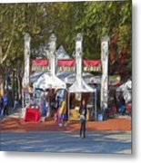 Portland Saturday Market Metal Print