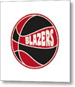 Portland Trail Blazers Retro Shirt Metal Print