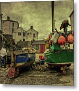 Portloe Boats  Metal Print