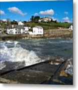 Portmellon In Winter Metal Print