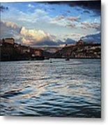 Porto And Vila Nova De Gaia River View Metal Print