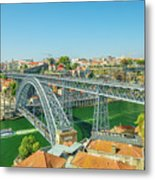 Porto Bridge Skyline Metal Print