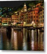 Portofino Bay By Night II - Notte Sulla Baia Di Portofino II Metal Print
