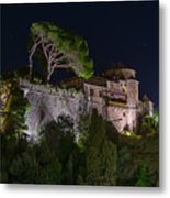 Portofino Bay By Night V - Notte Al Castello Metal Print
