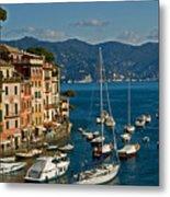 Portofino Italy Metal Print by Allan Einhorn