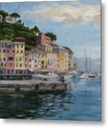 Portofino Port Metal Print