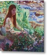 Portrait By The Stream Metal Print