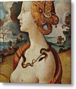 Portrait De Femme Dit De Simonetta Vespucci Metal Print