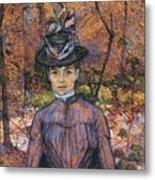 Portrait De Suzanne Valadon Madame Suzanne Valadon, Artiste Peintre 1885 Metal Print