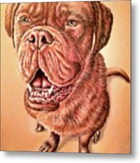 Portrait Drawing Of A Dog Metal Print