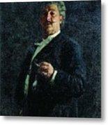 Portrait Mo Mikeshin 1888 Ilya Repin Metal Print